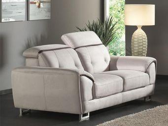 WHITE LABEL - canapé 2 places - souly - l 182 x l 99 x h 71 - mi - 2 Seater Sofa