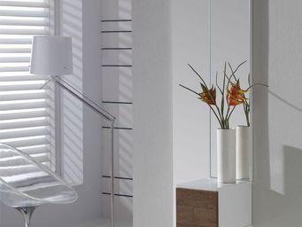 WHITE LABEL - meuble d\'entrée blanc/chêne foncé + miroir - sir -