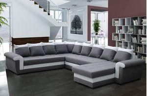WHITE LABEL - londonderry divano ad angolo letto trasformabileex - Adjustable Sofa