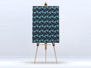 la Magie dans l'Image - toile abstrait fifties celadon - Digital Wall Coverings
