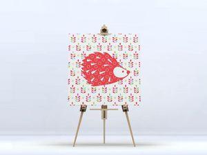la Magie dans l'Image - toile grand hérisson rouge - Digital Wall Coverings