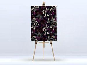 la Magie dans l'Image - toile pivoines black red - Digital Wall Coverings