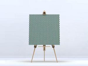 la Magie dans l'Image - toile uni chouette vert - Digital Wall Coverings