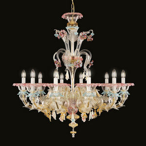MULTIFORME - toffee - Chandelier Murano