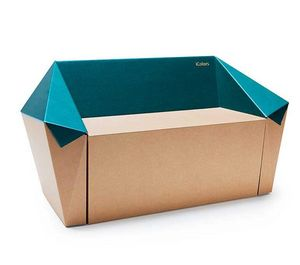 Corvasce Design - cardboard couch stone - Bench Seat
