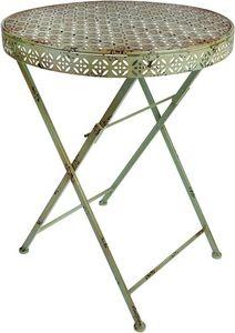 Esschert Design - table bistrot de jardin en métal - Folding Garden Table