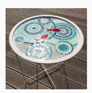 ANIS ET CÉLADON - Delphine Lescuyer -  - Garden Side Table