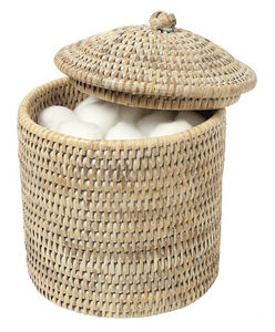 ROTIN ET OSIER - camille - Cotton Wool Jar