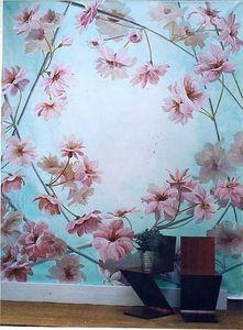 Fabienne Colin - fleurs de cerisiers - Ceiling Fresco