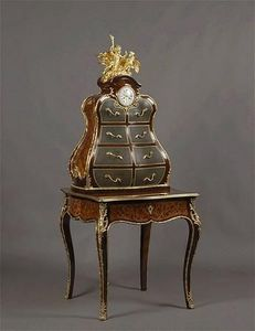 Adrian Alan - bureau de dame et cartonnier louis xv - Lady's Writing Desk