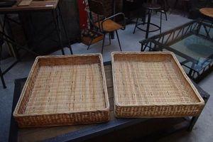 LE MARCHAND D'OUBLIS - panier en osier de boulangerie - Basket