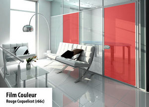 Variance store - rouge coquelicot - Privacy Adhesive Film