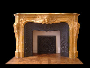 Abj Cheminees Anciennes - cheminée régence - Fireplace Mantel