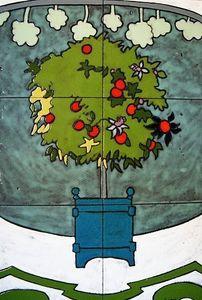 Emmanuelle Parent -  - Enamelled Terra Cotta Tile