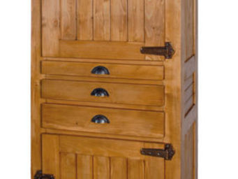 Antic Line Creations -  - Fridge Freezer Cabinet