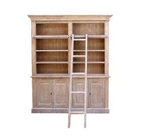 DECO PRIVE - bibliotheque en bois cerusee modele balmore deco p - Open Bookcase