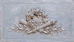 Miroirs et trumeaux Daniel Mourre - couronne gris - Door Pediment