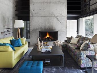 KA INTERNATIONAL - sofá ryad + tabor verde - 3 Seater Sofa