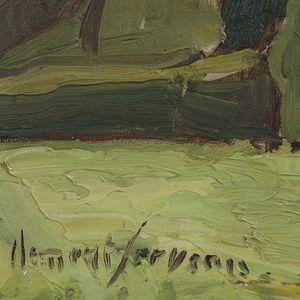 Expertissim - clément serveau. paysage à montaigut - Landscape Painting
