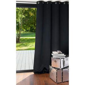 Maisons du monde - rideau occultant noir - Eyelet Curtain