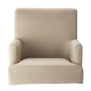 MAISONS DU MONDE - housse de fauteuil de bar lin lounge - Armchair Cover