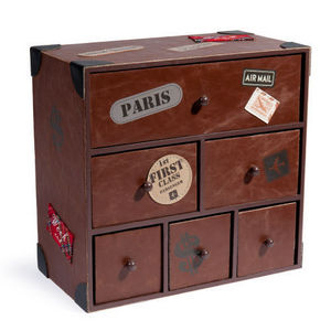 Maisons du monde - boite tiroirs patch voyage - Children's Bedside Table
