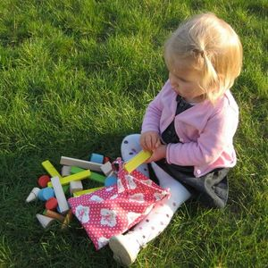 LITTLE BOHEME - sac de cubes personnalisé ciel - Stacking Toy
