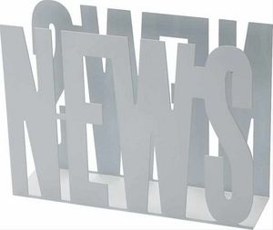 Balvi - porte-revues design en métal blanc news 31.5x42x11 - Magazine Holder