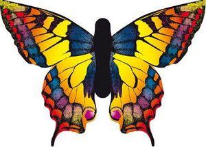 La Maison Du Cerf-Volant - papillon jaune - Kite