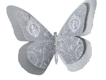 Mathilde M - papillon double à pince volutes - Themed Decoration