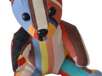 Les Toiles Du Soleil - doudou ours tom - Soft Toy