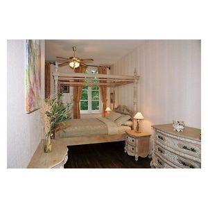DECO PRIVE - lit a baldaquin en bois ceruse - Double Bed