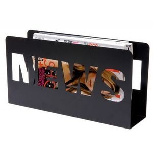 Present Time - porte-revues news - couleur - noir - Magazine Holder