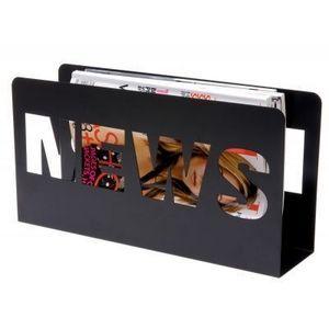 Present Time - porte-revues news - couleur - noir - Magazine Holder