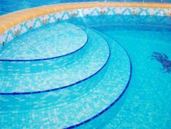 Emaux de Briare - ecailles - Pool Tile