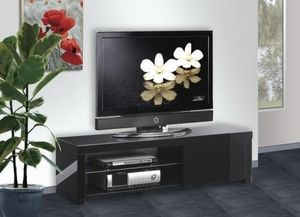 DT - meuble tl laqu noir my design - Media Unit