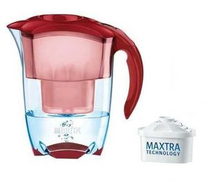 BRITA - set carafe filtrante elemaris rouge 1001 991 (1 ca - Carafe Water Filter