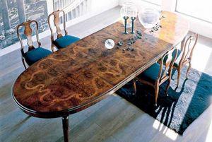 BERTELE' MOBILI -  - Oval Dining Table