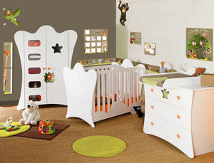BABY SPHERE - chambre complète mobilier + deco jungle - Infant Room 0 3 Years