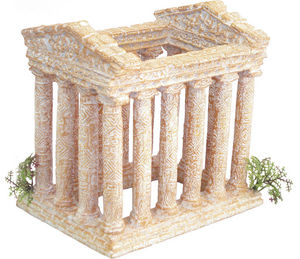 ZOLUX - décor temple nano antics en résine 14,5x11x14cm - Aquarium
