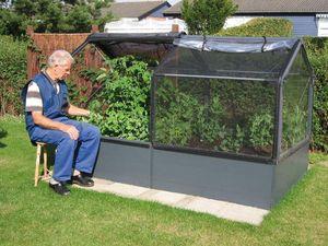 Growcamp - potager de jardin surélevé de 50cm avec serre 240x - Mini Greenhouse