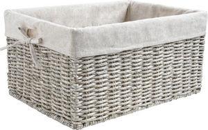 Aubry-Gaspard - corbeille en maïs gris et jute pour rangement 28x2 - Storage Basket