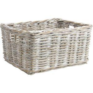 Aubry-Gaspard - corbeille de rangement en poelet patiné - Storage Basket
