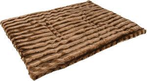 ZOLUX - tapis warmy en fourrure synthétique marron 75x100c - Dog Bed