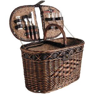 AUBRY GASPARD - panier pique-nique tradition 2 couverts en osier t - Picnic Basket