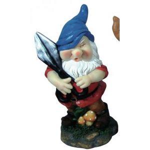 CODEVENT - statuette nain de jardin ciseau - Garden Gnome