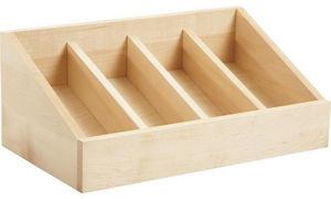 Aubry-Gaspard - range-couverts 4 compartiments en pin - Cutlery Tray