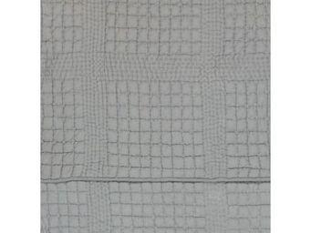 BLANC D'IVOIRE - olivier gris bleu - Matelasse Bedspread