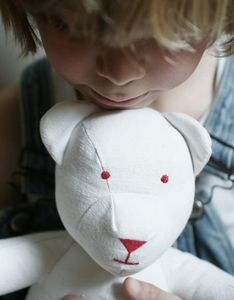 LES TOILES BLANCHES - denis - Rag Teddy Bear