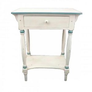 Demeure et Jardin - chevet filet bleu - Bedside Table